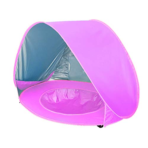 DaMohony Kids Baby Beach Tent, Toddler Folding Easy Setup UV-resistant Toddler Pool Tent Play Tent for Beach Backyard Indoor