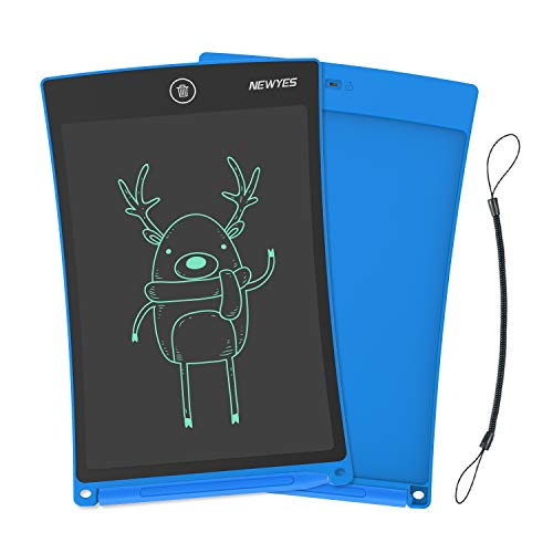 NEWYES Jot 8.5 Inch Doodle Pad Drawing Board LCD Writing Tablet with Lock Function for Note Taking eWriter Gifts for Kids Blue