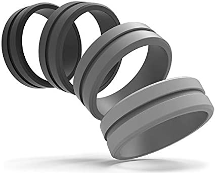 Silicone Wedding Ring for Men Mens Rings Mens Wedding Bands Rings for Men  Silicone Ring Mens Silicone Wedding Band Wedding Rings Set for Him Rubber