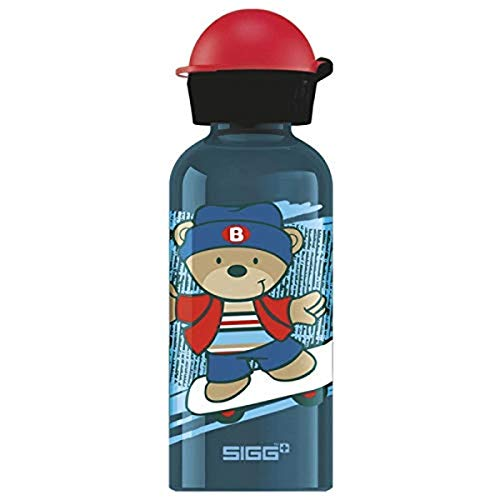 SIGG Skate Kinder Trinkflasche (0.4 L), schadstofffreie Kinderflasche mit auslaufsicherem Deckel, federleichte Trinkflasche aus Aluminium