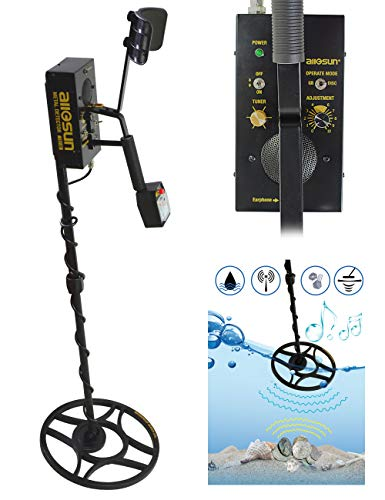 ALLOSUN Metal Detector For Adults Hunter Coin Finder Golden Digger High Accuracy Waterproof Metal Detectors Two Modes Handheld Relic Hunter