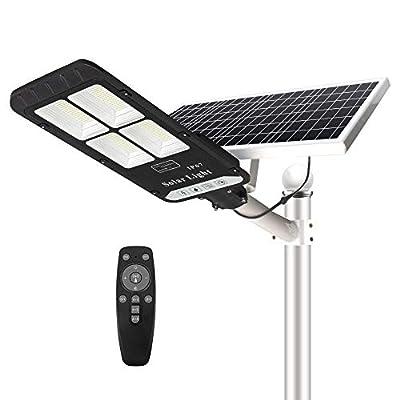 400W Solar Street Flood Light Outdoor, NIORSUN Dusk to Dawn Flood Lights Upgrade Version Motion Sensor Mode with Remote Control IP65 Waterproof for Parking Lot, Stadium, Garden, Pathway(Bright White)
