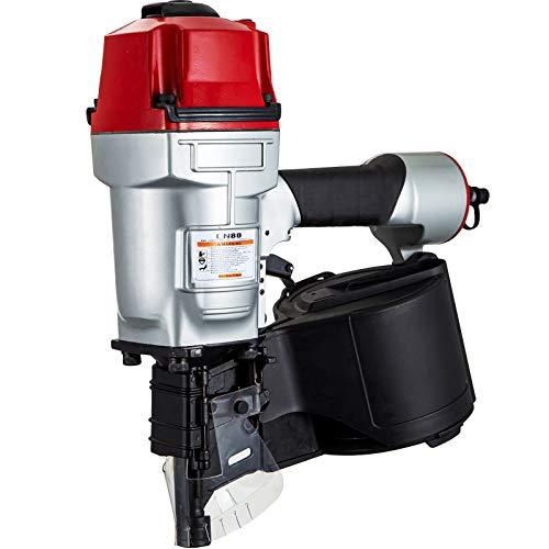 VEVOR Chiodatrice Pneumatica CN80, Sparachiodi Aria Compressa 50-83 mm, Inchiodatrice ad...
