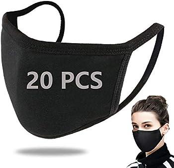 20-Pack Burlway Unisex Cotton Reusable Face Masks