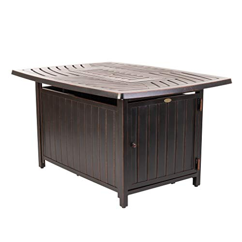 Buy Discount Rectangle Aluminum Lpg Fire Pit - N/a Multi Color Bronze Finish