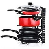 Home-Neat Porte-casseroles Acier Inoxydable Support, Plateaux de Rangement Réglable Parfait...