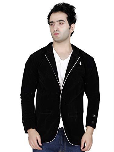 Garun Black Velvet Single Breasted Blazer for Mens