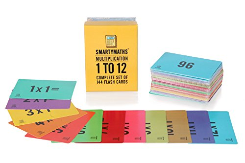 SMARTYMATHS Times Table Flash Cards Set of 144 Multiplication