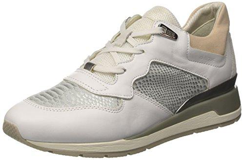 Geox D Shahira B, Zapatillas Mujer, Blanco (White/Off White), 37 EU
