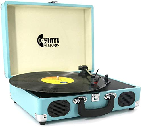 Record Player, VINYL MUSIC ON Vinyl Turntable with 2 Built-in speakers,...