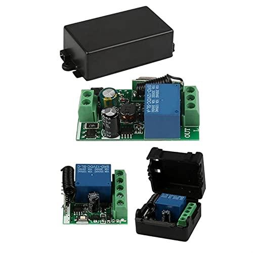 Ymhan 2 PC A 433 MHz Canal 1 Interruptor de Control Remoto inalámbrico Mini Receptor de relé, DC 12V y 220V AC