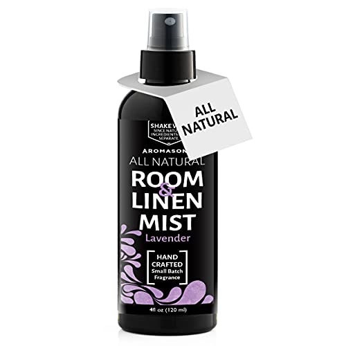 Aromasong All Natural Lavender Room & Linen Spray - Sheets, Pillow, Fabric, Bed Air Freshener & Deodorizer - Calming Fragrance for Sleeping - Relaxing Stress Relief Refreshing Scent Removes Smell