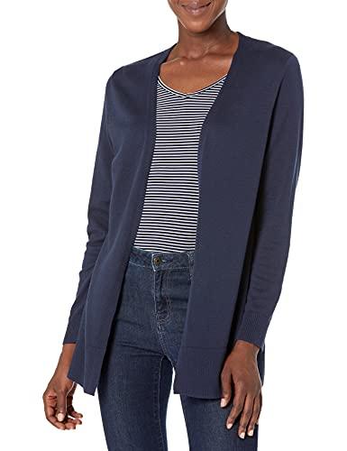 Amazon Essentials Women's Lightweight Open-Front Cardigan Sweater, Navy, Large