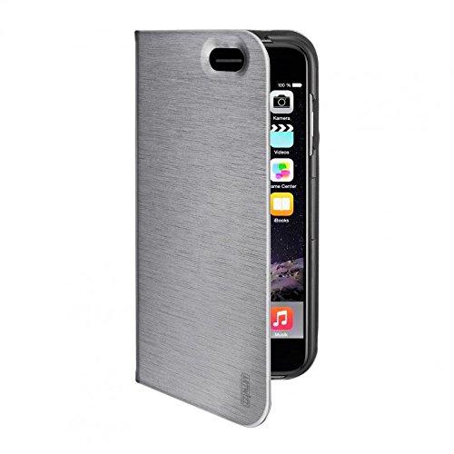 Artwizz FolioJacket Handyhülle designed für [iPhone 6, iPhone 6S] - Schutzhülle im modernen Design mit Standfunktion, Magnetverschluss - Grau