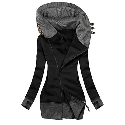 Abrigo De Invierno Mujer Chaqueta con Capucha para Mujer Reb