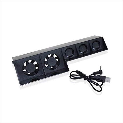 Sliverdew Ventoinha de resfriamento para PS4, refrigerador externo USB com 5 ventoinhas de resfriamento com controle de temperatura turbo para console de jogos, projetada profissionalmente para PS4 Slim Host
