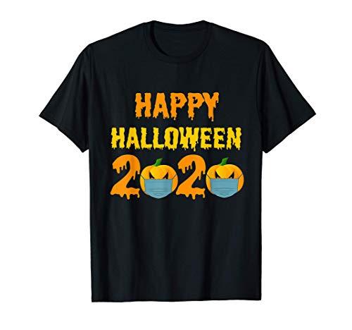 Fiesta de Halloween 2020 Calabaza con mascarilla Regalo Camiseta