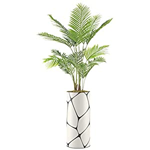 """Silk Flower Arrangements SIGNWIN Floor Plants Artificial Areca Palm Trees for Home, Fake Palm Plant with Vase - Large Size 80"""" Overall"""