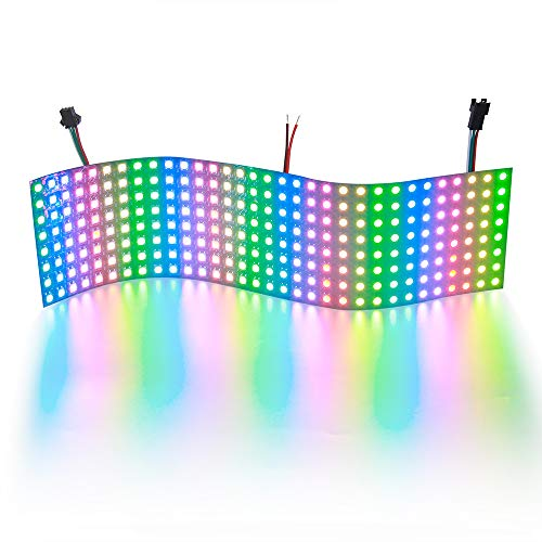 ALITOVE For Arduino WS2812B LED Rainbow Matrix 8x32 256 Pixels led flexible panel screen 5050 RGB SMD Dream color array of led pixel