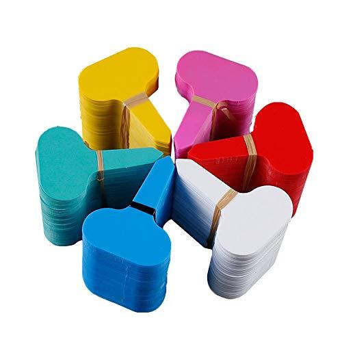 Dfghbn Les étiquettes des Plantes Plastique imperméable de Type T de Type étiquettes de Jardin de 600 PCS Étiquettes en Plastique for pépinières incurvées Arbre Balises