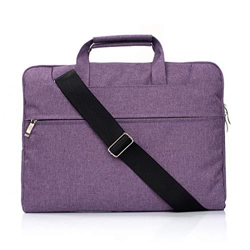 Timemall Computertasche Hochwertige tragbare One-Shoulder-Handheld-Laptop-Tasche mit Reißverschluss, for Macbooks bis 11,6 Zoll, Samsung, Lenovo, Sony, Dell Alienware, CHUWI, ASUS, HP (Schwarz)