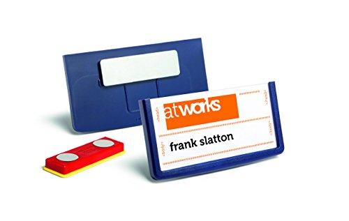 Durable 850207 Namensschild Frame (30 x 60 mm, mit Magnet Packung à 25 Stück dunkelblau