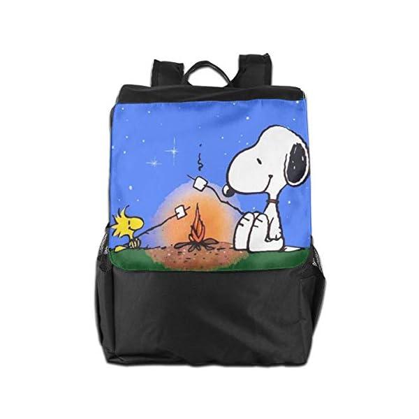 41 yCON8TnL. SS600  - Snoopy mochila de viaje para el aire libre, para la escuela, viajes, senderismo, camping, para hombres y mujeres