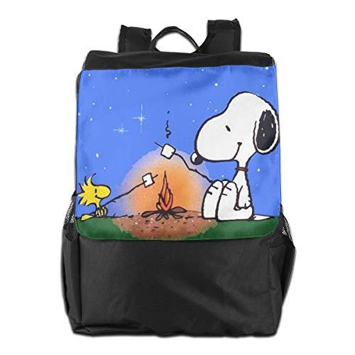 41 yCON8TnL - Snoopy mochila de viaje para el aire libre, para la escuela, viajes, senderismo, camping, para hombres y mujeres