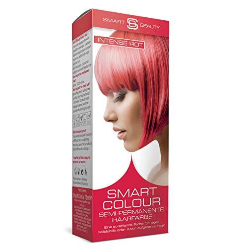 Intense Red semi-permanente Haarfarbe |Ohne Ammoniak, Parabene, Sulfate und PPD | 100% vegan, ohne Tierversuche | Smart Beauty