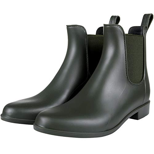 Ankle Rain Boots for Women Waterproof Chelsea Boots Lightweight Rain Shoes for Ladies Green 41