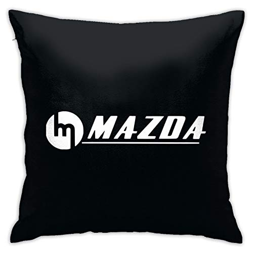 LYLR Ma-z-da Pillow Covers Cushion Cover Cases Square Pillowcases Sofa Couch Bed Home Decor 18'X 18'Inch