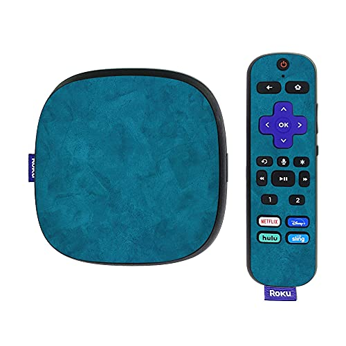 MightySkins Skin Compatible with Roku Ultra HDR 4K Streaming Media Player (2020) - Blue Strokes | Protective, Durable, and Unique Vinyl Decal wrap Cover | Easy to Apply and Change Styles | Made in th