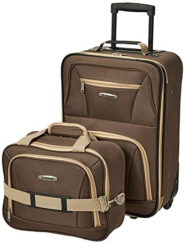 Rockland Fashion Softside Upright Luggage Set,...