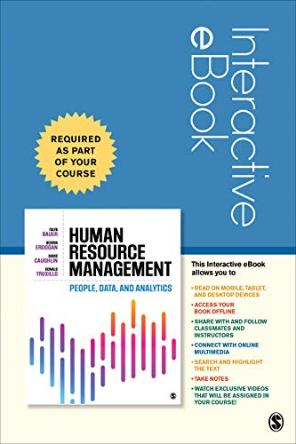 Human Resource Management - Interactive eBook: People, Data, and Analytics