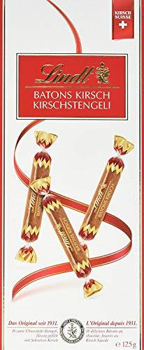 Lindt - Boîte BÂTONS KIRSCH - Chocolat au Lait fourré au Kirsch - 125g