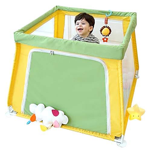 GUO@ Parc de bébé pour enfants Clôture de sécurité pour bébé Piscine Ocean Ball Infant Toddler Clôture Maison de jeu pour bébé Garde-corps jaune et vert