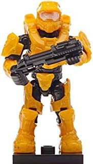 Halo Mega Bloks LOOSE Minifigure UNSC Yellow Mark VI Spartan [Alpha Series]