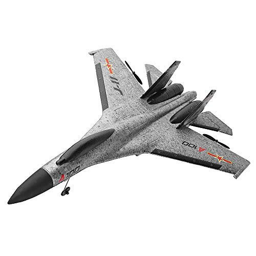 Leadmall Remote Control Jets | Race RC High Speed Fighter Jets Durable EPP Foam (3-CH 2.4GHz Transmitter Included) | RTF RC Airplane with Safe Technology (Gray)