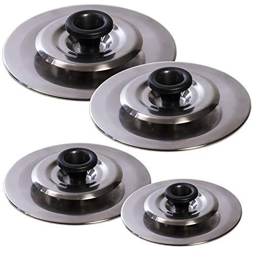 4 Coperchi Magici Antiodore Cooker Ventur Magic In Acciaio Inox 22, 26, 30, 34 Cm
