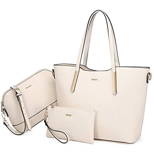LOVEVOOK Handbags for Women Hobo Shoulder Bags Large Tote Ladies Purse Top Handle Satchel 3pcs Set