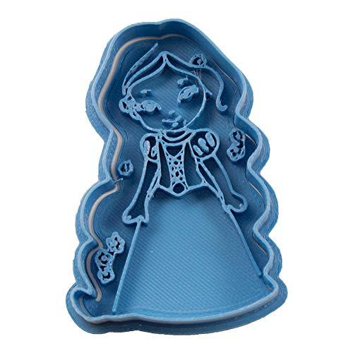 Cuticuter Rapunzel Chibi Princesa Cortador de Galletas, Azul, 8x7x1.5 cm