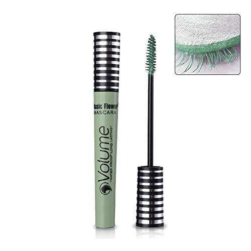 Womdee Volume Mascara, 10 ml 4D Bunte wasserdichte Mascara, luxuriös länger, dickere, voluminöse...
