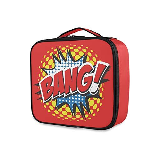 Toiletry Pouch Travel Makeup Bag Storage Moda Herramientas portátiles Estuche de tren cosmético Word BANG Comic Universe Amazing