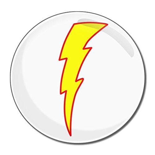 Lightning Bolt White - Miroir compact rond de 77 mm