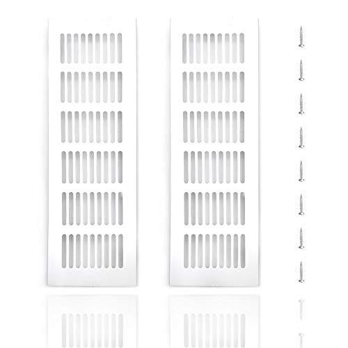2 UNA Salidas De Aire A Prueba De Insectos, Rejilla De Aire, (80 X 250 mm), Para InstalacióN De VentilacióN