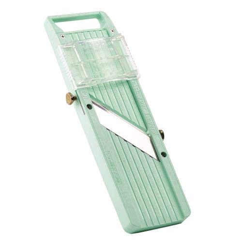 Winco MDL-5P, Japanese Mandoline Slicer Set, Fruit and Vegetable Mandoline Cutter with Attachment Blades