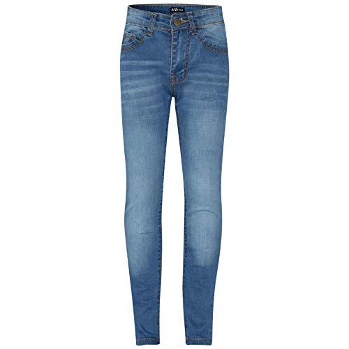 A2Z 4 Kids® Enfants Filles Maigre Jeans Mid Bleu Designer - Girls Jeans JN25 Mid Blue_11-12