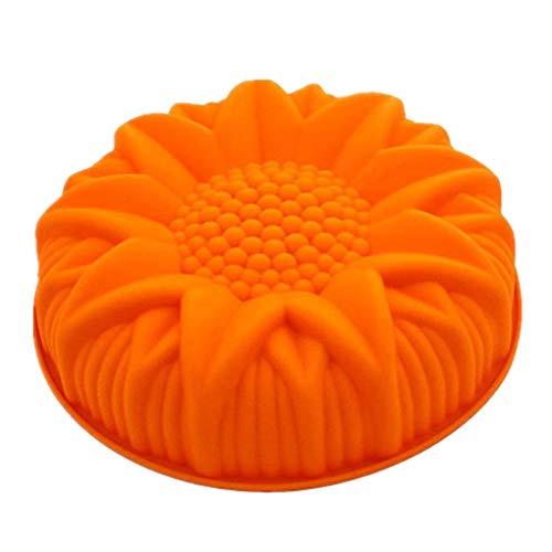 rongweiwang moldes para Pasteles en Forma de Flor Color al Azar Bricolaje Torta de Sun Pan Pie Kitchen Grandes moldes Herramientas Molde Redondo hornada de la Cocina