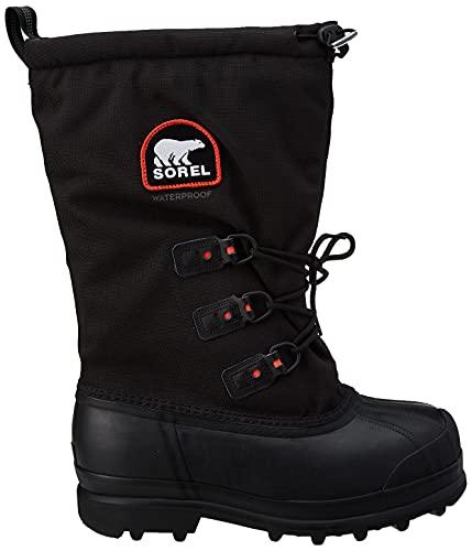 Sorel Men's Glacier Extreme Snow Boot,Black/Red Quartz,11 M US