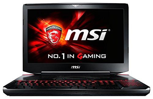 MSI 001812-SKU1001GT80-2QES32SR311BW 46,7cm (18,4 Zoll) Laptop (Intel Core i7 5950HQ, 32GB RAM, 1TB SSD, NVIDIA GeForce GTX 980M-Grafik, Win 10 Home) schwarz*